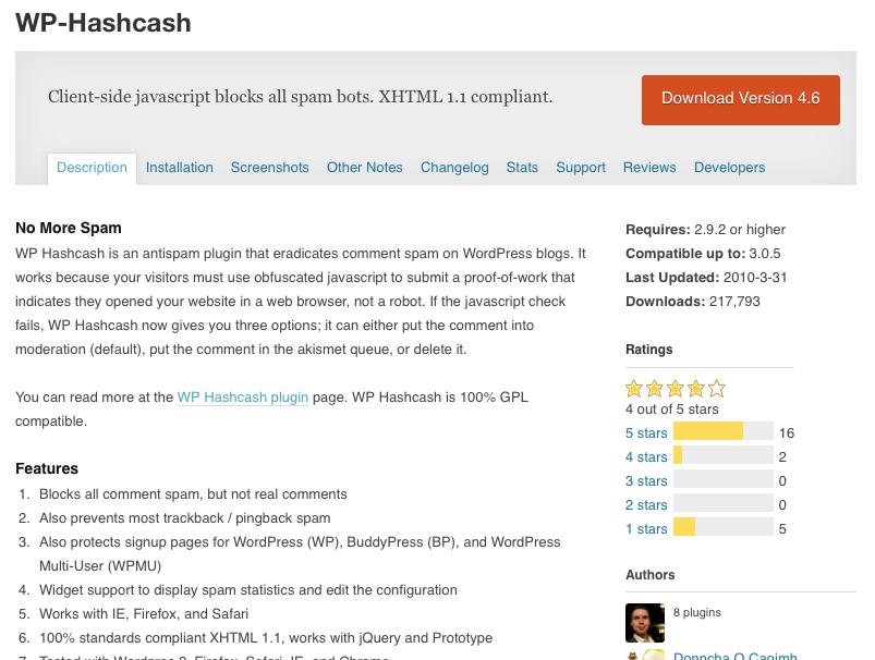 WP Hashcash