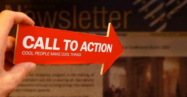 Ajouter un appel à l'action via une newsletter