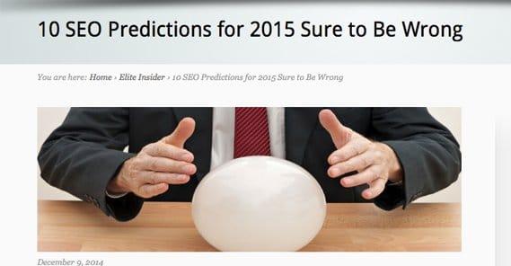 Robert Galinsky Predictions