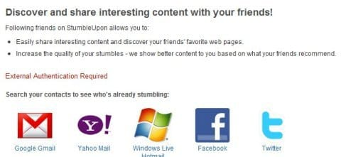 Get Friends on Stumbleupon