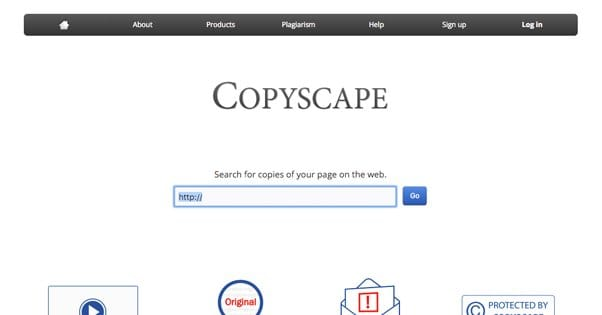 Copyscape Website Screenshot