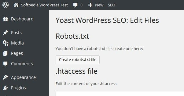 Robots Text in WordPress