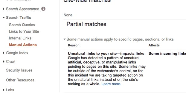 Google WMT Penalty