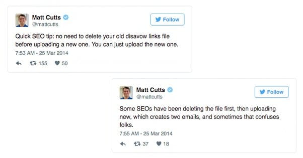 Matt Cutts on Disavow