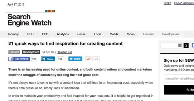 Content Inspiration