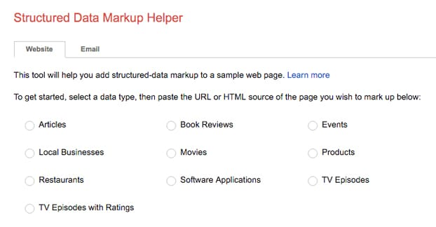 Google Markup Helper