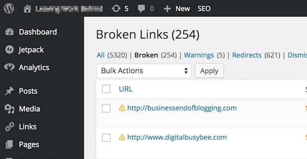 Broken Links WordPress