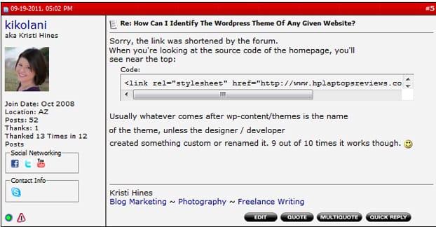 Forum Signature Link