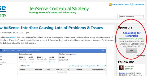 Example of an Adsense Ad