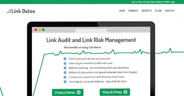 Link Detox Homepage