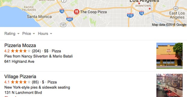 Local Results on Google Search