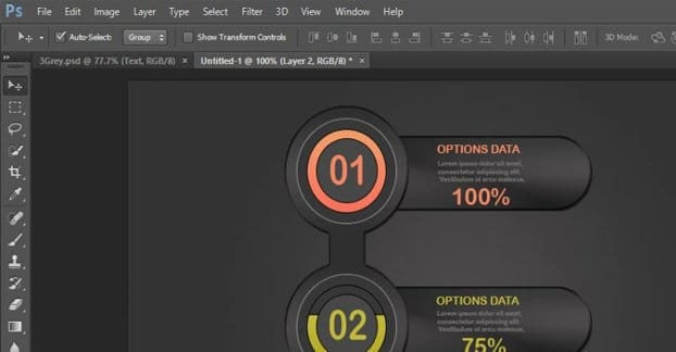 Photoshop Designing an Infographic