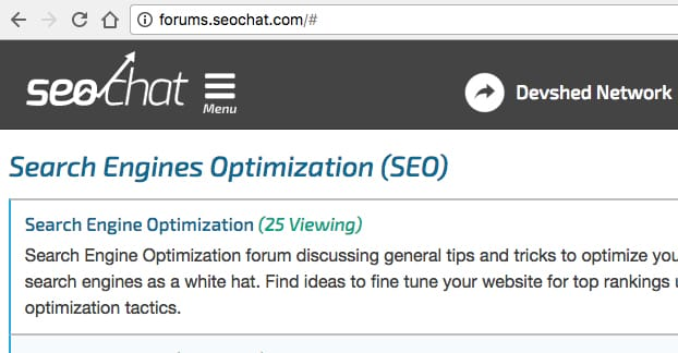 SEOChat Forums Subdomain