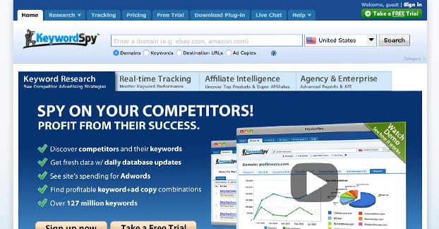 Keyword Spy Website