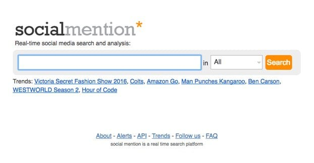 Social Mention Website
