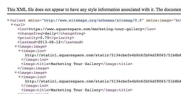 Squarespace Sitemap