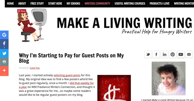 Paying Writers for Guest Posts