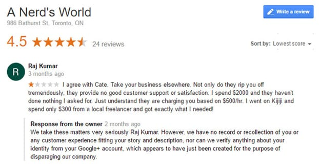 Example of a Fake Review