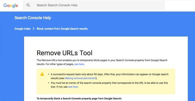 How to Remove a Url from Google in less than 24 Hours