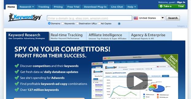 Keyword Spy Homepage