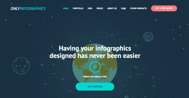 OnlyInfographics Homepage