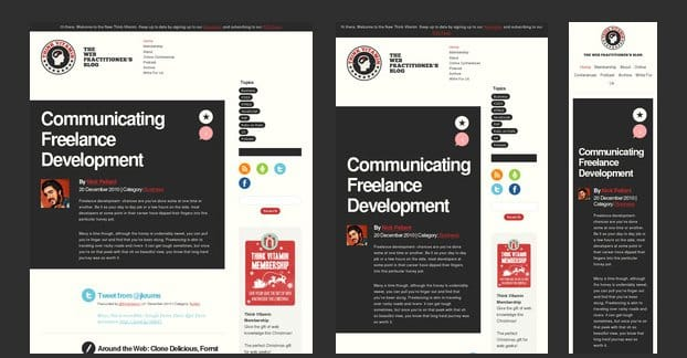 Responsive Redesign Example