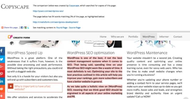 Copyscape Homepage