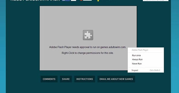 Flash Player Wont Load