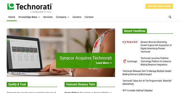 Technorati Homepage