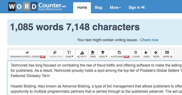 WordCounter Article Length