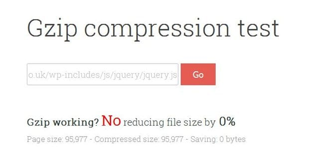 Gzip Compression Working