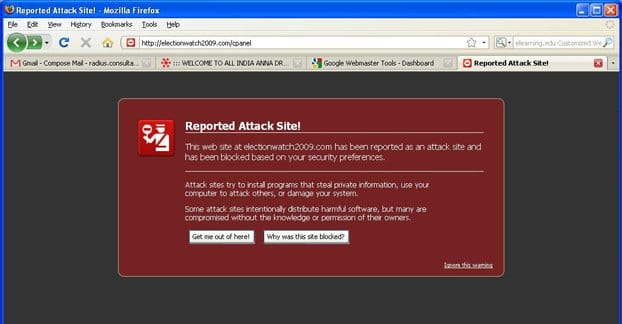Reported Attack Site Screenshot