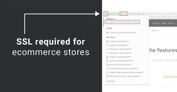 SSL Required for eCommerce Sites