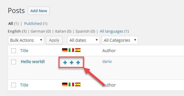 Translating Content WordPress