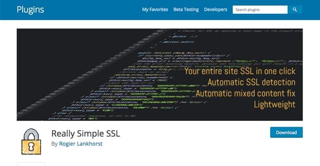 Wordpress Plugins Really Simple SSL