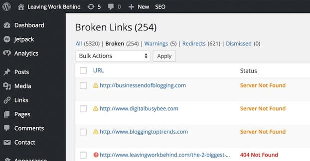 Broken Link Checker WordPress