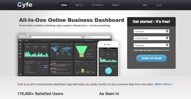 Cyfe Business Dashboard