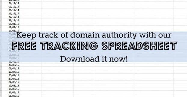 Tracking Domain Authority Spreadsheet