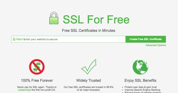 Free SSL Certificate Website