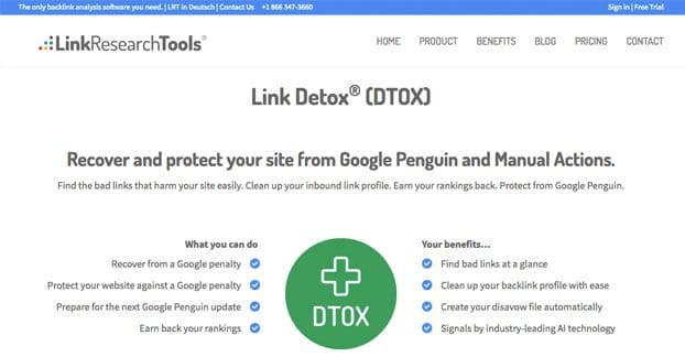 Link Detox Website