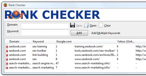 SEOBook Rank Checker