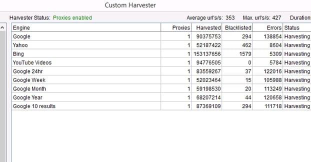 Harvest From Bing
