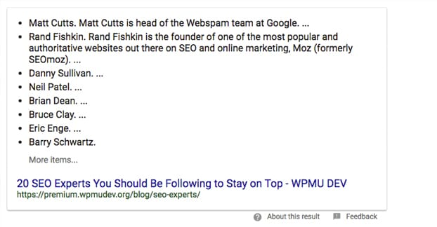 Example SEO Experts