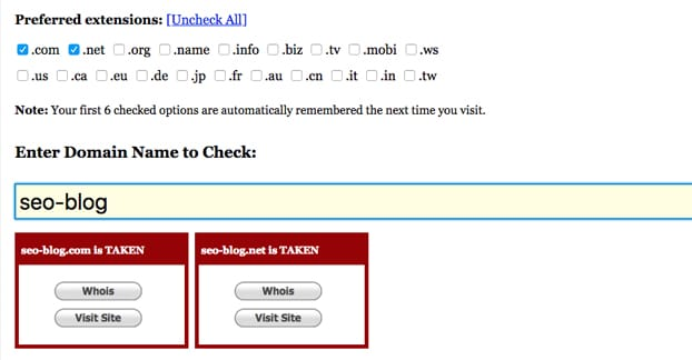 Domain Availability