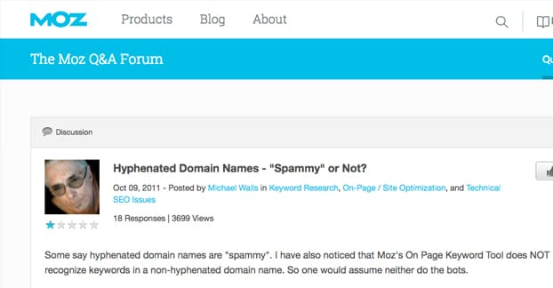 Hyphenated Domains Spammy