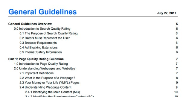 Google PDF Guidelines