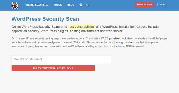 Wordpress Security Scan Plugin