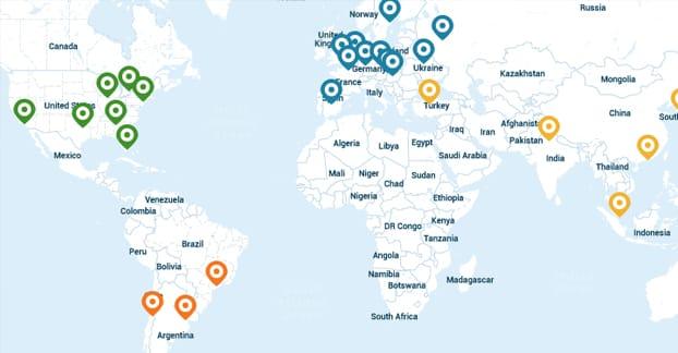 CDN Server Locations
