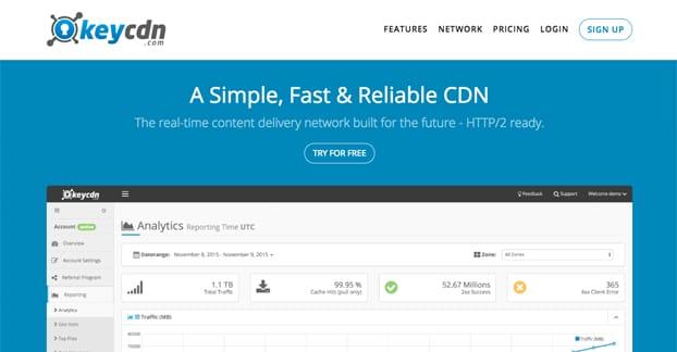 KeyCDN Homepage