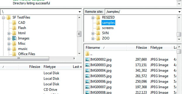 Subfolder FTP